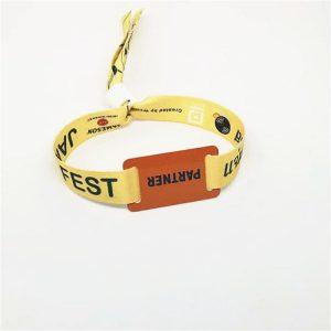 ISO14443A Event NFC Festival Bracelet NTAG213 NFC RFID Fabric Woven Wristband
