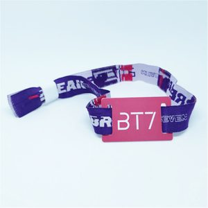 Music Festival Fabric RFID Wristband I code Sli S/X Woven Bracelet for Vocal Concert Tickets