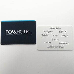 RFID hotel key card compatible with ving lock system