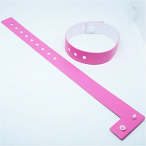 Disposable RFID PVC Bracelet F08 1024bytes OneTime Used Band Soft NFC Wristband