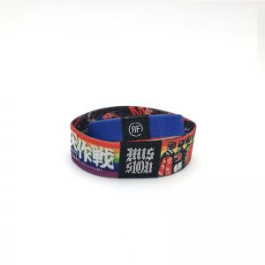 ISO14443A RFID Stretchy Wristband NTAG215 Woven NFC Elastic Wristband