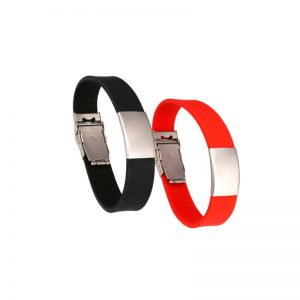 Dual Frequency UHF NFC RFID Adjustable Silicone Wristband H3+F08 Ticket and Payment Bracelet