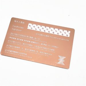 Metal Business Card Stainless Steel Customized Printing VIP Gold Metal Card