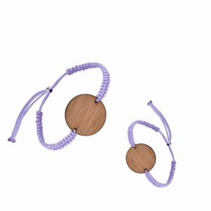 NFC Wooden Wristband Fudan F08 1024bytes RFID Wood Tag Woven Bracelet For Resort Access Control/Festival Payment