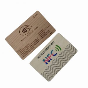 RFID Wood Card NTAG213 Hotel Wooden Door Lock Smart NFC Card