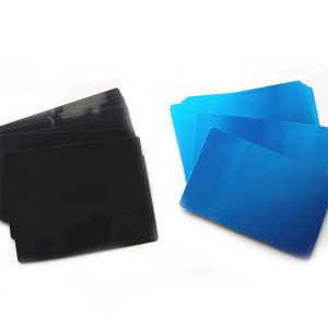 Anodized Aluminum Card 0.22mm Blank Business Card
