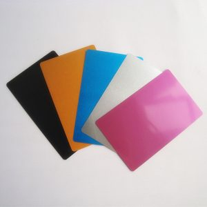 Custom anodized aluminum card, laser engraving blank business metal card