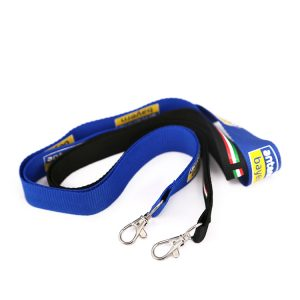 Recycling Lanyard Bracelet Festival Event Polyester Satin Ribbon Lanyard For Keys/events