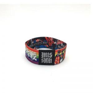 13.56MHZ i Code Sli-X/S RFID Fabric Elastic Bracelets – Logo Embroidery HF RFID Stretch Wristband