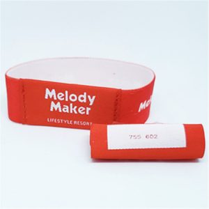 Wholesale Customized RFID HF Fabric Elastic Wristband with Topaz512 Chip