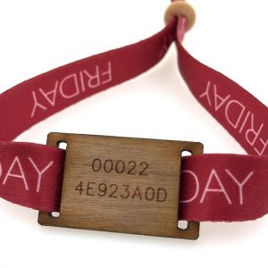 F08 HF adjustable RFID wooden wristbands for festival