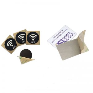 Passive RFID Anti Metal Tag With QR Code And 3-M NFC Sticker For High Temperature
