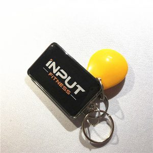 13.56MHz Epoxy RFID Key Fob, NFC Keychain With Fudan F08 4K Chip For Ticketing