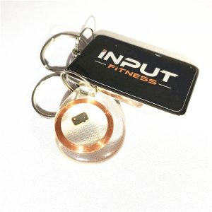 13.56MHz Epoxy RFID Key Fob, NFC Keychain With Fudan 4K Chip For Ticketing