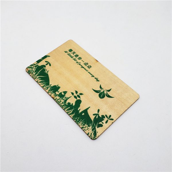 rfid wooden card