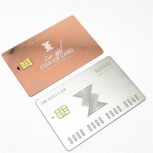 OEM Custom Design Engraved Metal VIP Card Personalized Business Metal Card