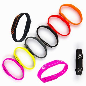 Adjustable bracelet U-ltralight EV1 RFID Silicone wristband for lottery ticket counting machine