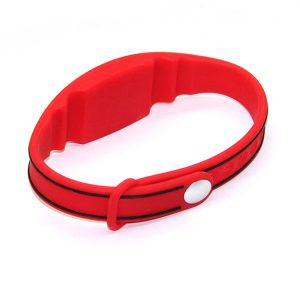 125KHZ LF rfid silicone wristband TK4100 customized printing bracelets for access control
