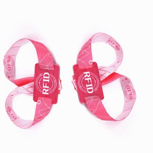 Passive rfid wristband N-tag213 180bytes NFC music festival fabric woven bracelet