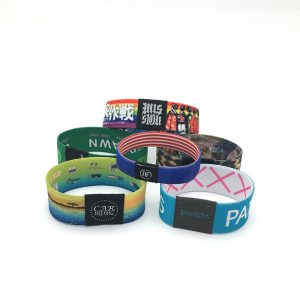 High Quality waterproof NTAG216 Elastic bracelet 888bytes stretch rfid woven wristband