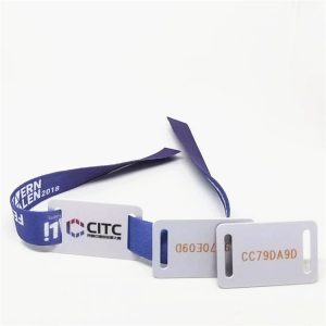 ISO 18000-6C UHF H3 Long Range RFID Bracelet Fabric Party Woven Festival Wristbands