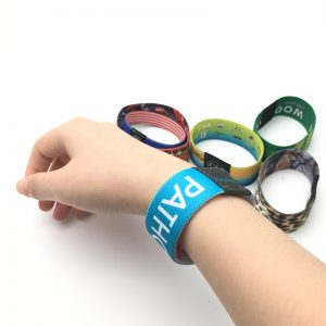 Customized logo printing MF Classic 1k Stretchy Soft Bracelet S50 RFID NFC Elastic Fabric Wristband For Events