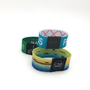 Customized Polyester RFID F08 M1 Elastic Wristband NFC 1k Smart woven Bracelet