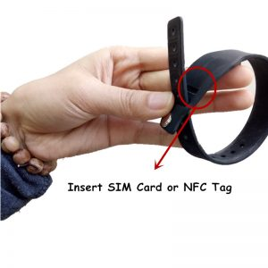 Popular SIM Wristband Waterproof Cashless Silicone Bracelet with NTAG 213 chip tag insert