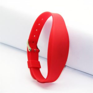 HF UHF Durable silicone rfid wristband with double chip H3 and TK4100 rfid bracelet