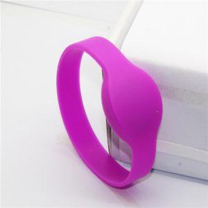 13.56mhz Fudan F08 M1 RFID smart bracelet 1k NFC Multi color silicone wristband