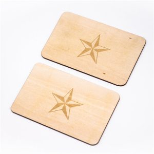 Environmental Friendly Printed NFC Wooden Card With Mifare Ultralight Chip
