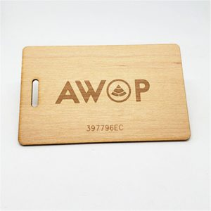 125KHZ Standard RFID Wood Card With EM4200 Chip For Lock Systems