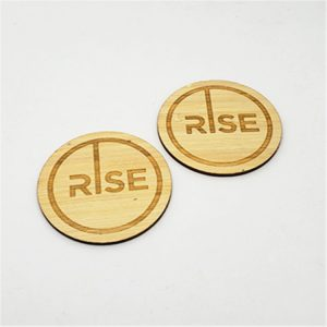 Natural Recyclable 13.56MHZ RFID Wood Card With Mifare Classic Chip