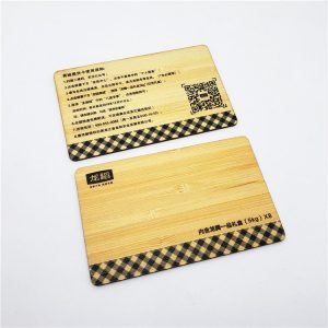 Long-distance Reading UHF RFID Woodem Card With Alien H3 For Parking