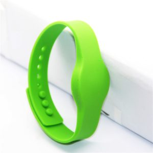 13.56mhz customized logo printing bracelet Desfire 4k rfid silicone wristband for access control