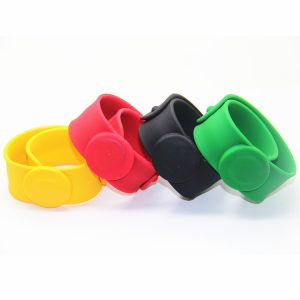 Customized Printing MF Plus X/S NFC Bracelet RFID Rubber Bangle Wristband for Party