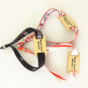 MF Plus S/X SE chip wooden tag bracelet with customized size for events