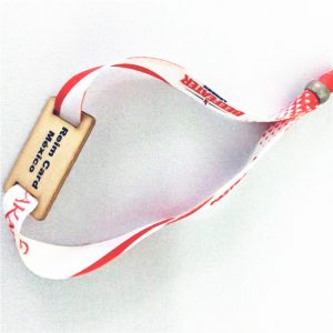 ISO 15693 long reading range nfc Ti2048 wooden card bracelet laser print adjustable wristband