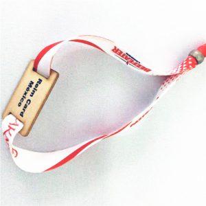 ISO 15693 long reading range nfc Ti2048 wooden card bracelet laser print adjustable wristband