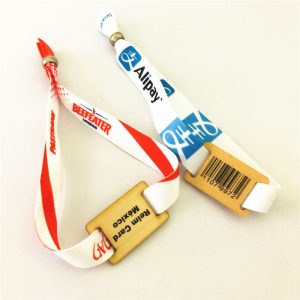 FELICA-LITE-S NFC Small wooden chip tag with woven wristband bracelet