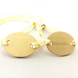 Icode sli s/x chip wooden tag string bracelet woven nfc wristband with one time use locker