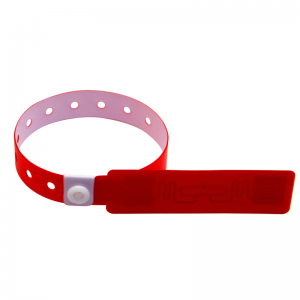 860-960mhz UHF Alien H3 Chip Bracelet Long Range PVC Waterproof Wristband for Waterpark