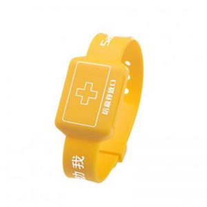 NFC SIM Card silicone wristband F08 drawer bracelet insert paper message or coin chip tag for hospital