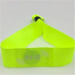 13.56mhz NFC Woven Bracelet Insert Ti2048 Chip Tag Custom Fabric RFID Wristband for event