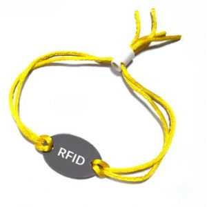 13.56mhz Disposable MF Ultralight C EV1 NFC bracelet UTL RFID oval chip tag String wristband for festival payment