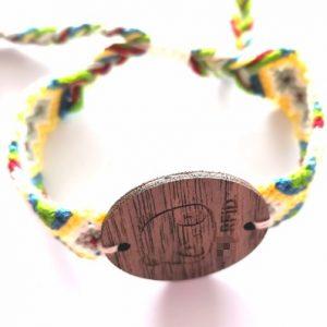 860-960mhz UHF wooden tag with DIY bracelet rfid ticket wristband