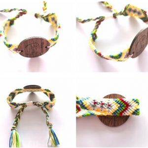 MF Classic 1k RFID Wooden tag NFC Woven Bracelet Fabric Wristband
