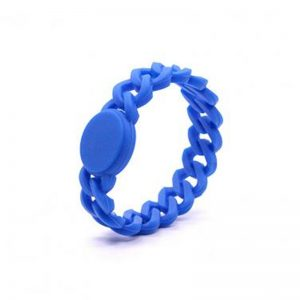 Adjustable NFC Bracelet Icode Sli X 1k chip waterproof silicone rfid wristband for Access Control