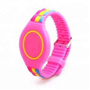 13.56mhz cheapest bracelet Fudan F08 Waterproof Silicone RFID smart wristbands