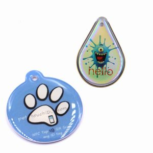 13.56mhz Mifare DESFire EV1 2K RFID Epoxy Card, NFC Tag For Pets